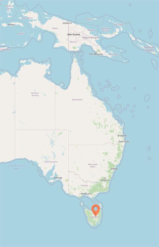 Map - Liffey, Tasmania