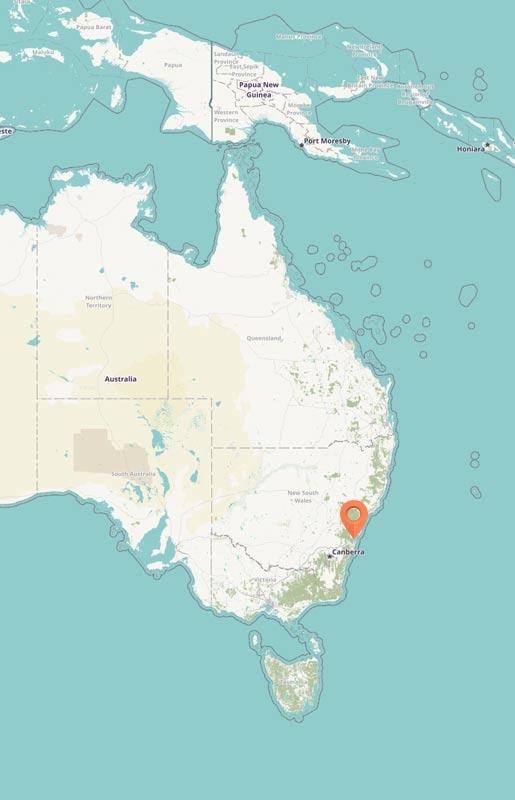 Map - Dharawal, Australia