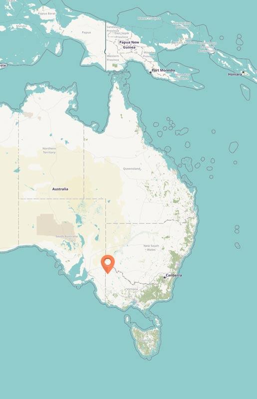 Map - Wyperfeld NP, Australia