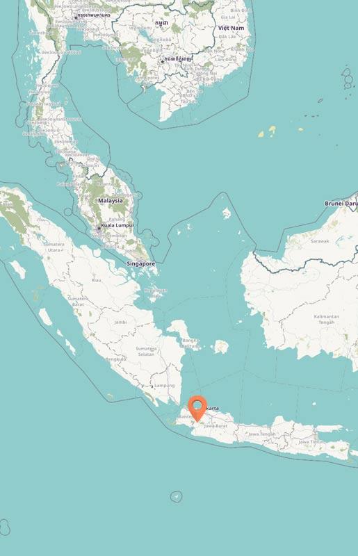 Map - Gunung Halimun, Java