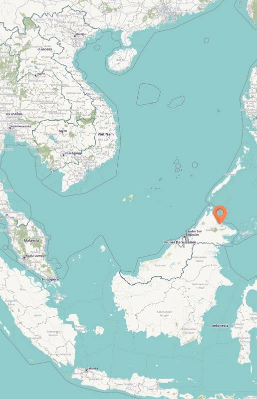 Map - Sepilok, Borneo