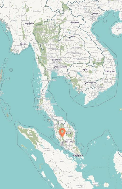 Map - Bukit Fraser, Malaysia